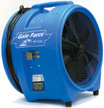 Flooded Basement air mover for drying Clinton Twp. MI.