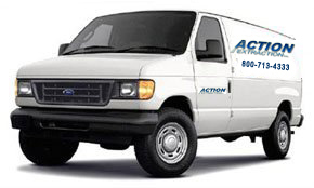 Flooded Basement Restoration and Cleaning Birmingham service vehicle MI