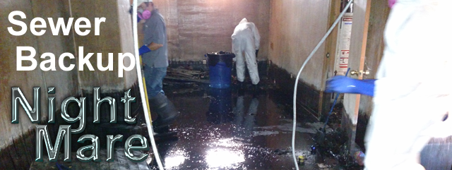 Severe Sewer Backup Cleanup Nightmare