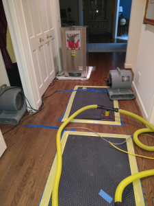 Drying Hardwood Floor after a Flood
