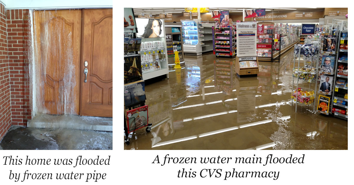Frozen Pipes and water damage