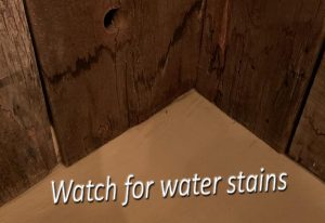 Water stains could be what water damage looks like